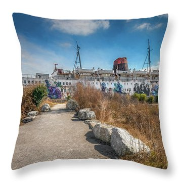 Throw Pillow featuring the photograph Duke Of Lancaster Graffiti by Adrian Evans