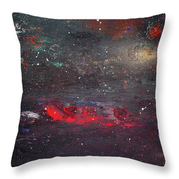 Throw Pillow featuring the painting Dulaity by Michael Lucarelli