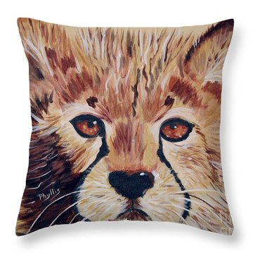 Throw Pillow featuring the painting Duma by Phyllis Kaltenbach