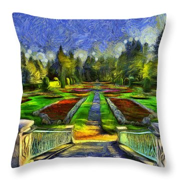 Duncan Gardens Van Gogh Style Throw Pillow