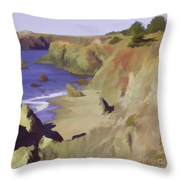 Above Bodega Throw Pillow