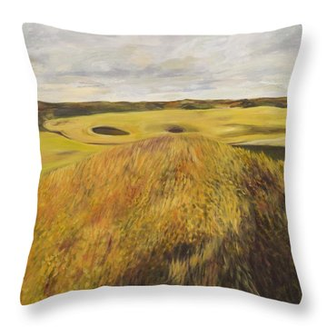 Dundonald Golf Course Throw Pillow