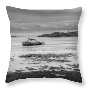 Dundrum The Old Boat Wreck Throw Pillow