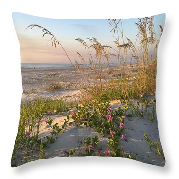 Throw Pillow featuring the photograph Dune Bliss by LeeAnn Kendall