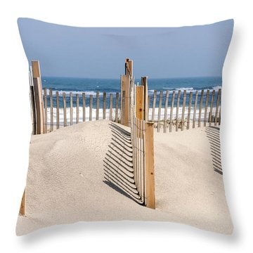 Dune Fence Landscape Throw Pillow