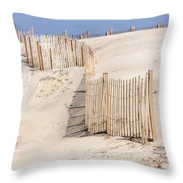 Dune Fence Portrait Throw Pillow