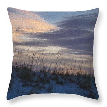 Dune Grass Blue Throw Pillow