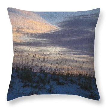 Dune Grass Blue Throw Pillow