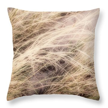 Throw Pillow featuring the photograph Dune Grass Nature Photography by Ann Powell