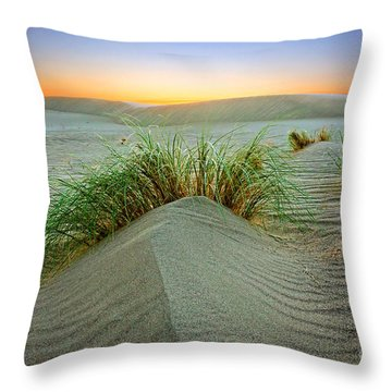Dune Grass Of Bruneau Idaho Throw Pillow by Martin Konopacki