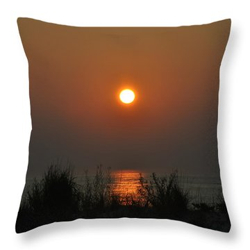 Dune Grass Sunrise Throw Pillow by Bill Cannon