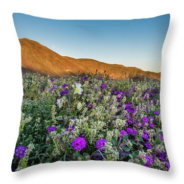Dune In Bloom Throw Pillow