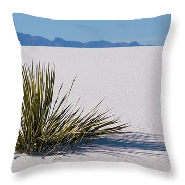 Dune Plant Throw Pillow by Marie Leslie