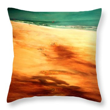 Dune Shadows Throw Pillow