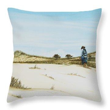 Dune Walker Province Lands Throw Pillow