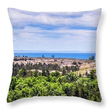 Dunes Along Lake Michigan Throw Pillow