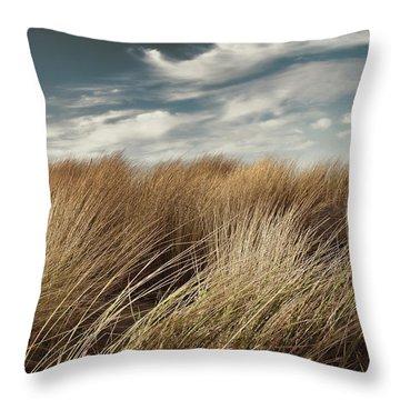 Dunes And Clouds Throw Pillow