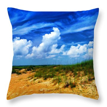 Dunes At Bald Head Island Throw Pillow