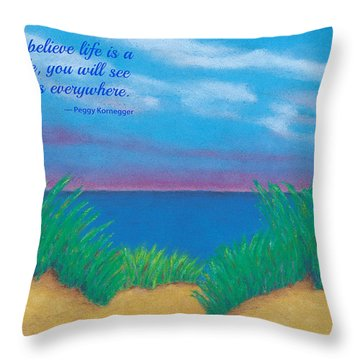 Dunes At Dawn - With Quote Throw Pillow