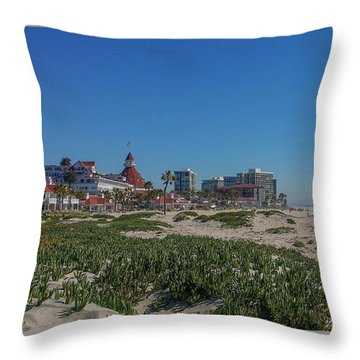 Dunes At The Del Throw Pillow