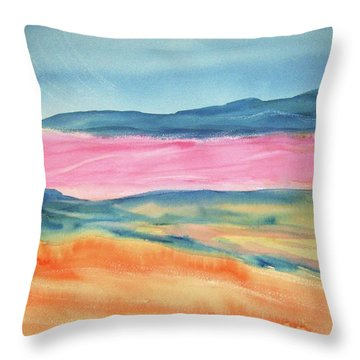 Throw Pillow featuring the painting Dunes by Ellen Levinson