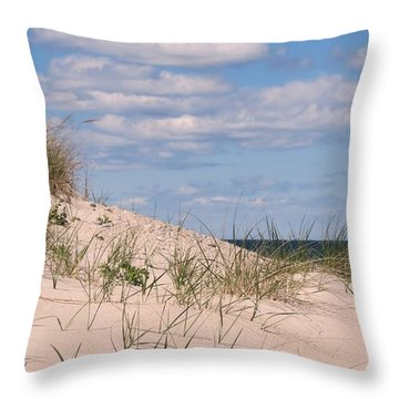 Dunes Of White Horse Beach Throw Pillow