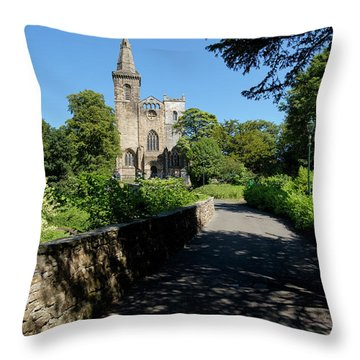Throw Pillow featuring the photograph Dunfermline Abbey by Jeremy Lavender Photography