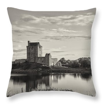 Throw Pillow featuring the photograph Dunguaire Castle by Juergen Klust