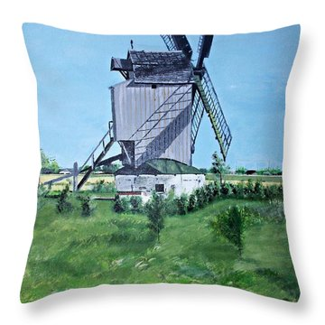 Dunkerque Windmill North Of France Throw Pillow