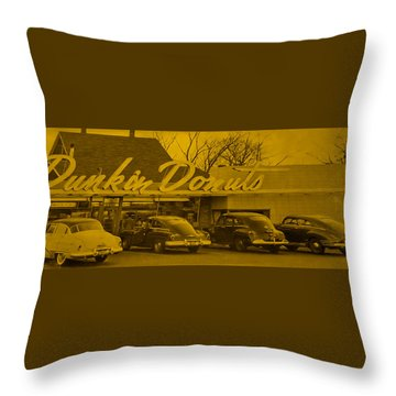 Dunkin Donuts Throw Pillow by Matthew Bamberg