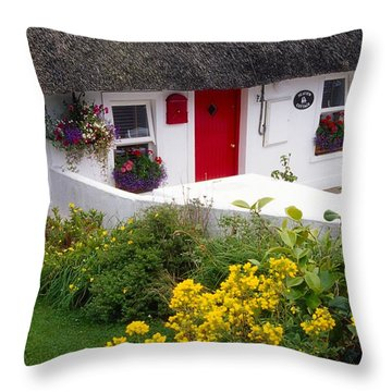 Dunmore East Harbour, County Waterford Throw Pillow