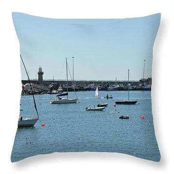 Dunmore East Harbour. Throw Pillow