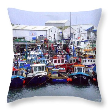 Dunmore East Throw Pillow