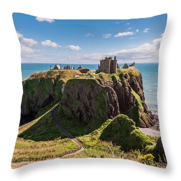 Dunnotar Castle Throw Pillow by Sergey Simanovsky
