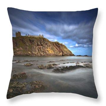Dunnottar Castle Throw Pillow by Roddy Atkinson