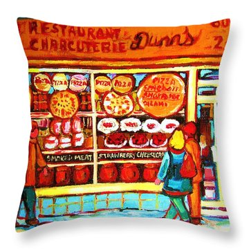 Dunn's Treats And Sweets Throw Pillow by Carole Spandau