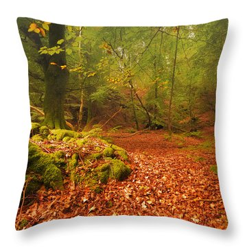 Dunstaffnage Castle Gardens Throw Pillow