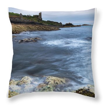 Dunure Castle Scotland  Throw Pillow