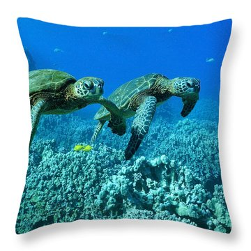 Throw Pillow featuring the photograph Duo by Aaron Whittemore