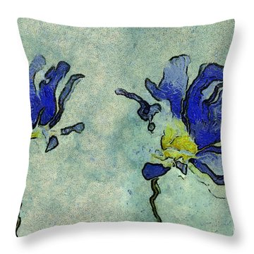 Duo Daisies - 02dp3b22 Throw Pillow by Variance Collections