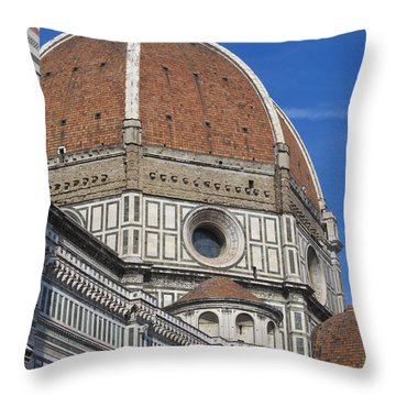 Duomo Cathedral Florence Italy  Throw Pillow by Lisa Boyd