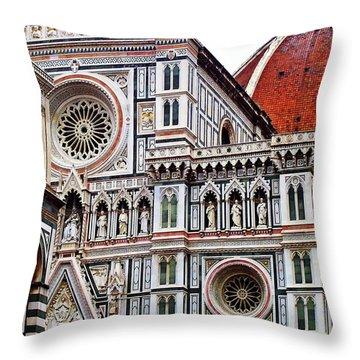 Duomo Facade Throw Pillow