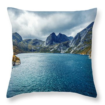 Dupfjorden Throw Pillow