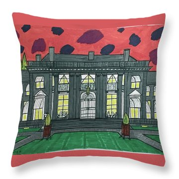 Dupont Family Mansion. Throw Pillow