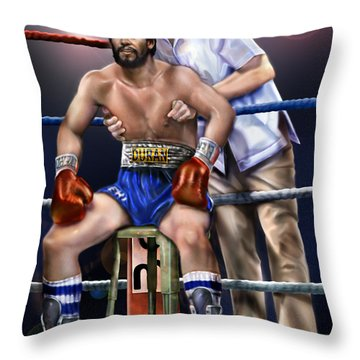 Duran Hands Of Stone 1a Throw Pillow