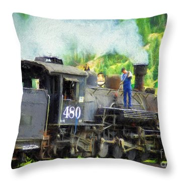 Durango And Silverton 480 Throw Pillow