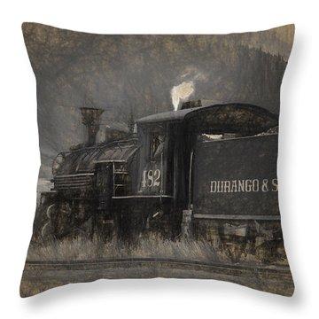 Durango And Silverton Train 2 Throw Pillow