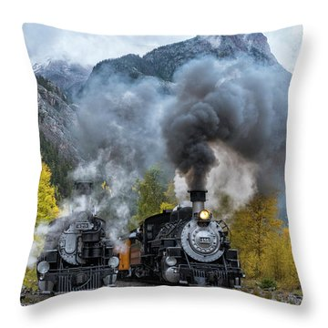 Durango Silverton Train Throw Pillow