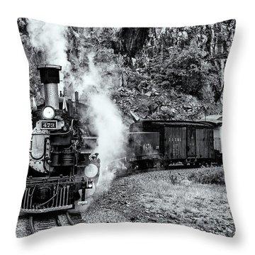 Durango Silverton Train Bandw Throw Pillow
