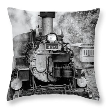 Durango Silverton Train Engine Throw Pillow
